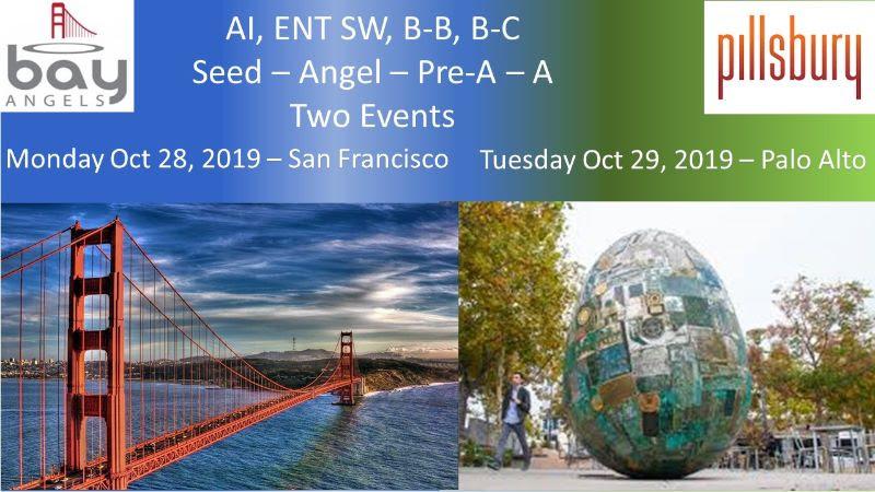 Bay Angels Investors Event - Oct 29, 2019- Palo Alto